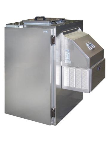 Nassmüllkühler für 120 Liter Mülltonne EDELSTAHL
