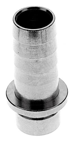 10 mm Bierschlauchtülle gerade aus Chromnickelstahl 1.4301