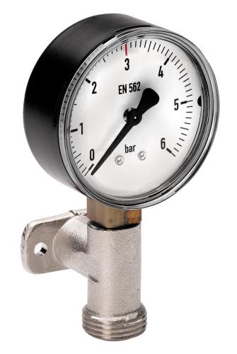 Kontrolluhr für CO2, N2 und Mischgas mit Wandhalter