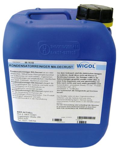 Kondensatorreiniger MA-Decrust - von Wigol 5 kg Kanister
