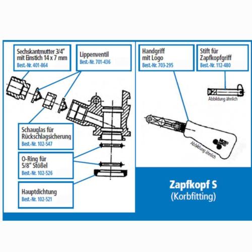 Lippenventil weiss Rückschlagsicherung Keg Zapfkopf Co2 Ersatzteil Micro Matic