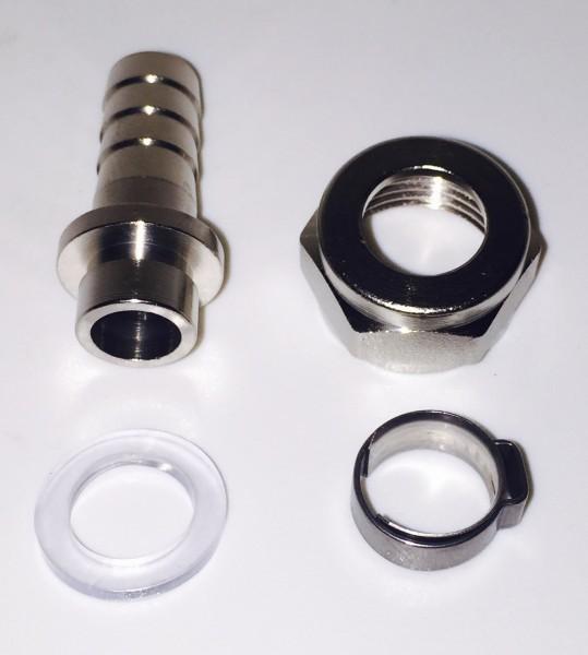"""Doppel Gewinde Nippel 5//8/""""  in 7mm oder 10mm Bierverschraubung Verbinder"""