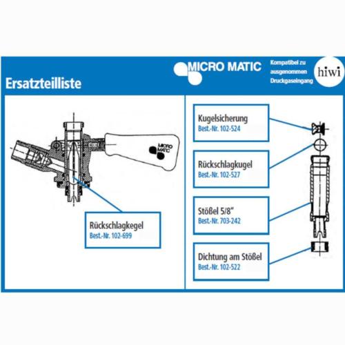 Ersatzteil zu Korbzapfkopf Micro Matic / HIWI