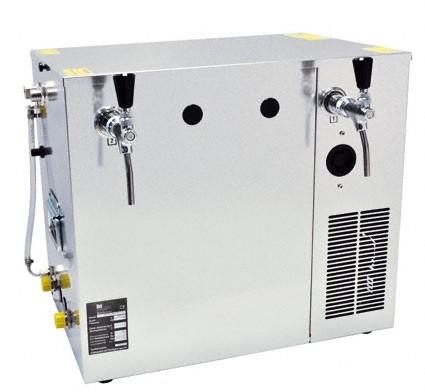 Nasskühlgerät 2-leitig, 100 Liter/h Kombikühlgerät, Begleit- und Durchlaufkühlung in einem Gerät mit