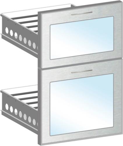 Schubladen-Modul statt Tür für EURO Bauteile