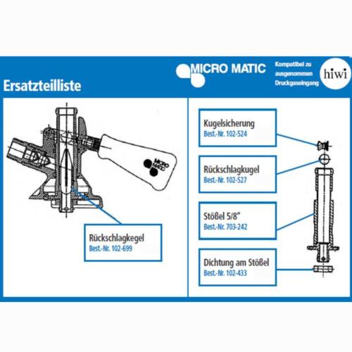 Ersatzteil zu Kombizapfkopf Micro Matic / HIWI