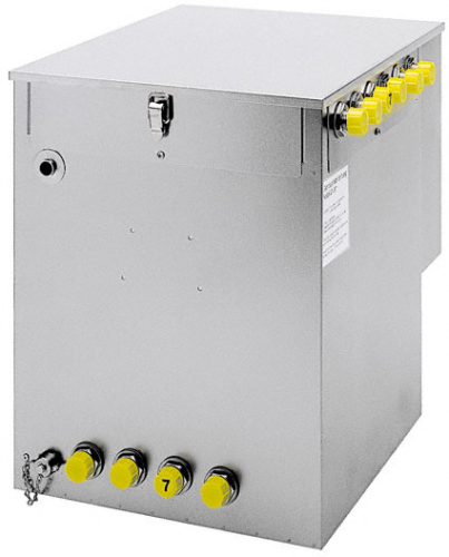 Wasserbad-Satellitenkühler Kombikühler für Begleit- und Durchlaufkühlung zum Anschluss an Zentralküh