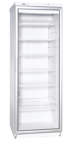 Glastürkühlschrank - CD 350 WEISS N mit Umluftkühlung