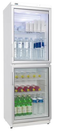 Glastürkühlschrank - CD 350.2 - WEISS N mit Umluftkühlung