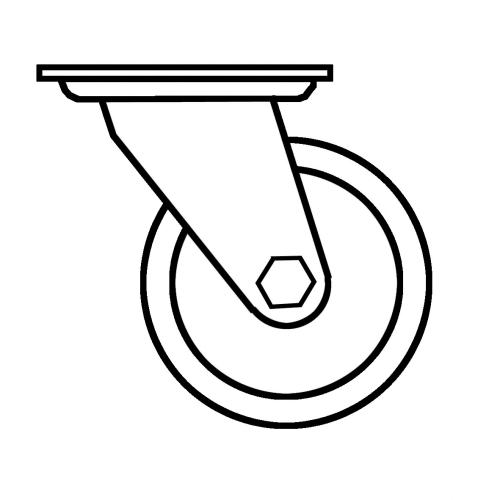 Zubehör für MM-Theke Lenkrollen für Theken