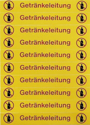 """Etikettenbogen """"Getränkeleitung"""" mit 20 Etiketten"""