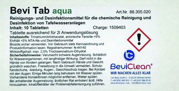 Bevi Tab Aqua