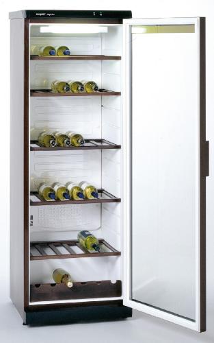 Glastürkühlschrank CD350-Braun mit statischer Kühlung