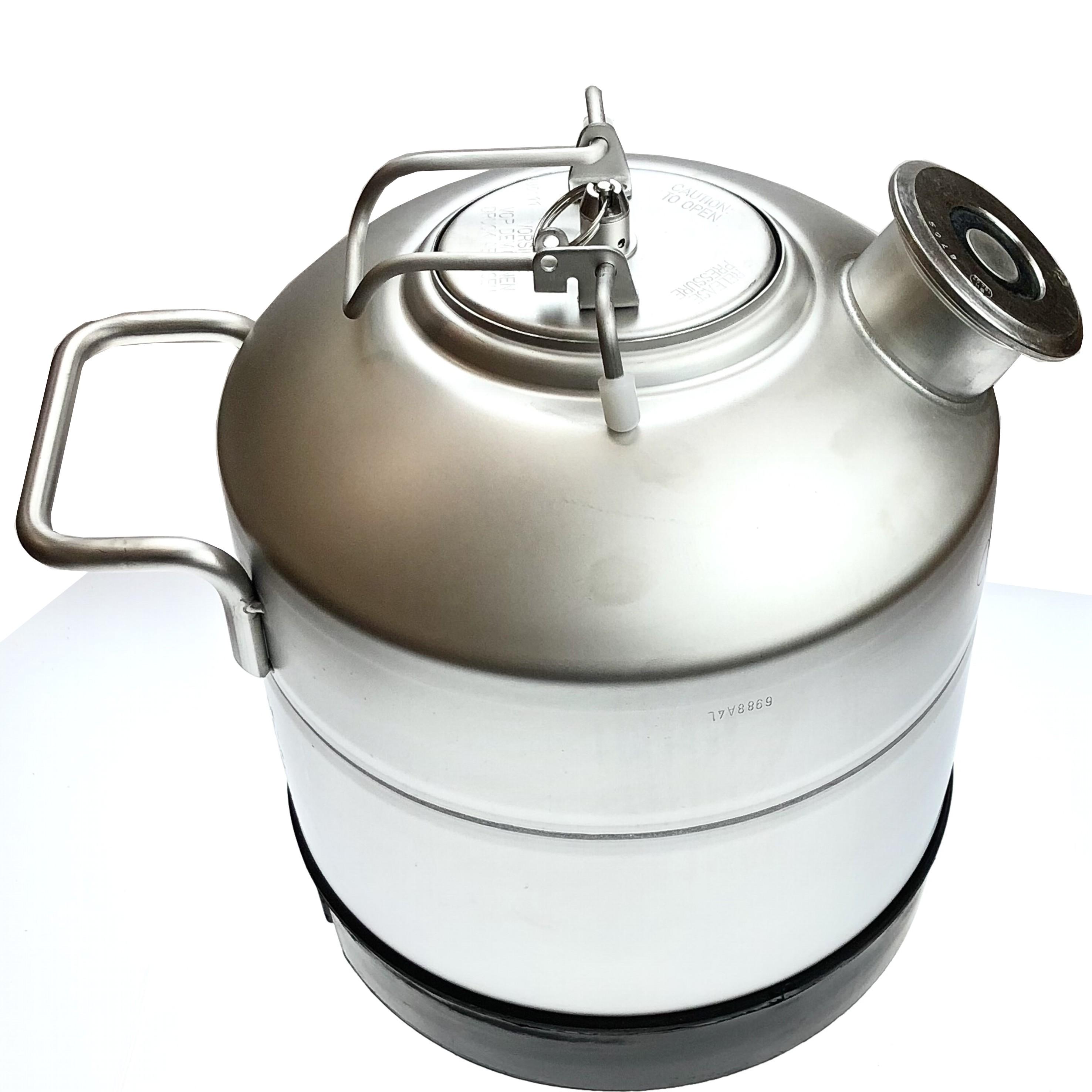 REINIGUNGSBEHÄLTER mit KÖPI FITTING 5 Liter Behälter für BIER ZAPFANLAGE TRESENs