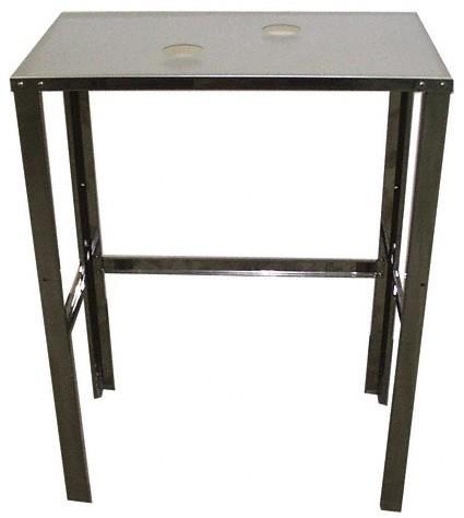 Maschinentisch aus Edelstahl, hohe Tragkraft.