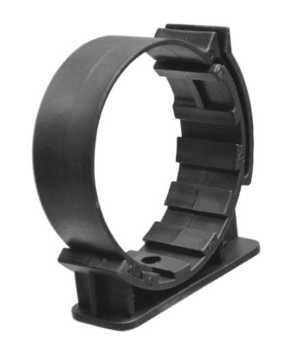 Pythonhalter Kunststoff schwarz