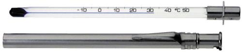 Getränkethermometer Metallschutzgehäuse mit Clip