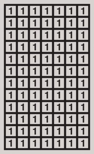 Kontrollnummern Polyesterfolie