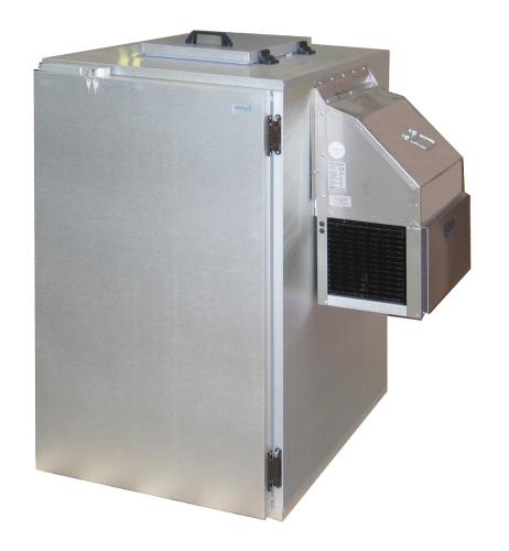 Nassmüllkühler für 240 Liter Mülltonne EDELSTAHL
