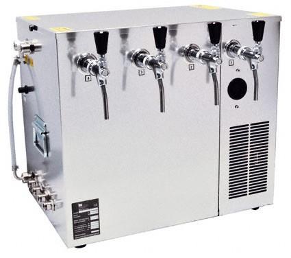 Bierkühler Nasskühlgerät 4 leitig, 100 Liter/h Kombikühlgerät,