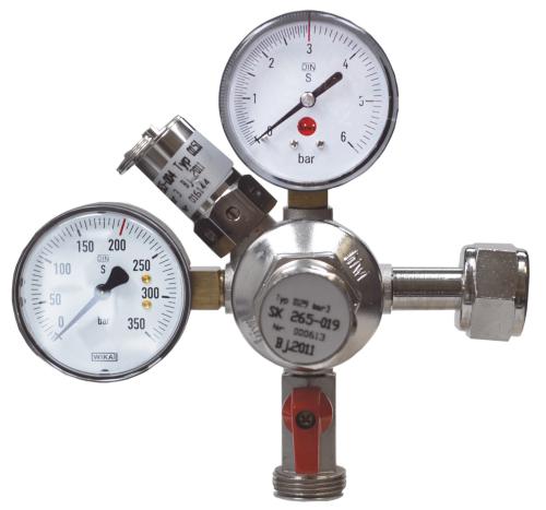 Stickstoff (N2)-Druckminderer Hiwi, 0-6/3 bar oder 0-10/7 bar