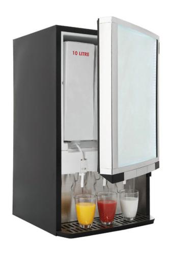 Bag In Box Kühlschrank Dispenser mit statischer Kühlung für Saft und Milch